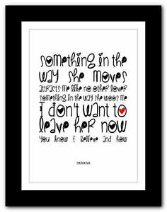 THE-BEATLES-Something-song-lyrics-typography-poster-art-print-A1-A2-A3-A4