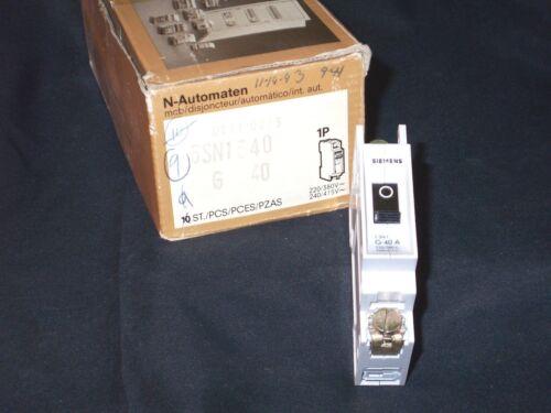 1P SIEMENS 5SN1340 circuit breaker 40A NIB