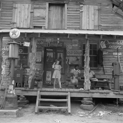 """Tobacco Antique Advertisement 1939 Old Photo Country Store 16/""""x16/"""" Coke"""