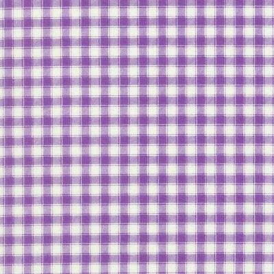 RJR Large Gingham Check Purple Lavender White Quilt Fabric Childs Garden Verses