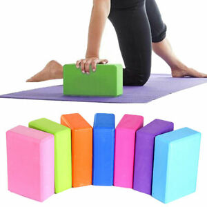 KQ_ EVA Yoga Block Pilates Foam Foaming Brick Stretch Fitness Exercise Gym Delux