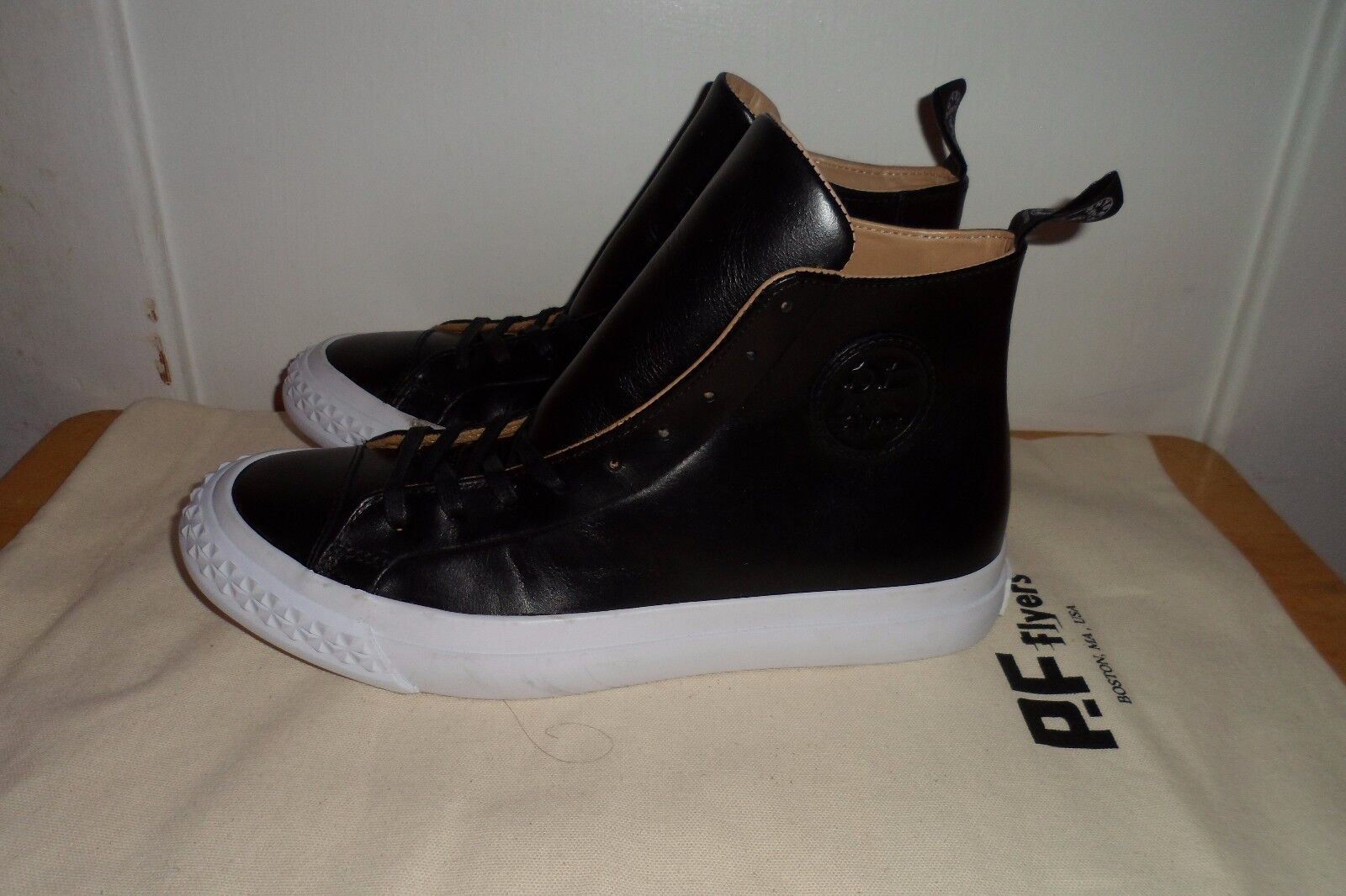 MUST SEE WORN 1X $160.00 PF FLYERS TODD SNYDER RAMBLER M HI BLACK MEN 7.5 M RAMBLER 01fb88