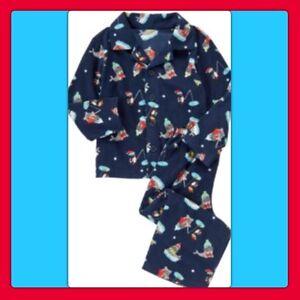 b793bd6bd NWT XS(4) Gymboree GYMMIES blue 2pc Button Top Pants Micro Fleece ...