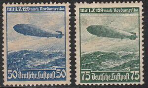 Stamp-Germany-Mi-606-7-Sc-C57-8-1936-Third-Reich-Airship-Hindenburg-Zeppelin-MNH