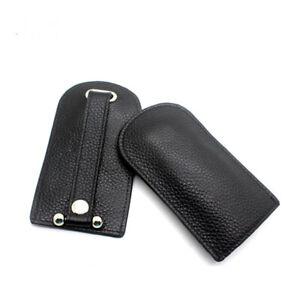 Автомобильный брелок из натуральной кожи ключ чехол простой магнитная кнопка кепка беспроводной телефон
