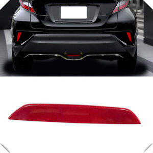 For-Toyota-C-HR-CHR-2016-2019-Low-equipped-Red-Rear-Break-Light-Reflector-Trim