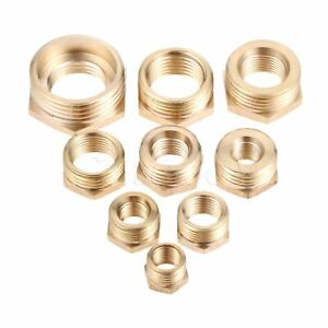 Hex-Reducing-Bushing-Adapter-Male-to-Female-Pipe-Fitting-Couplers-BRAND-NEW-2PCS
