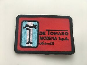 "3/"" x 2/"" DeTomaso Modena SpA Automobili Sew On Patch Detomaso Pantera"