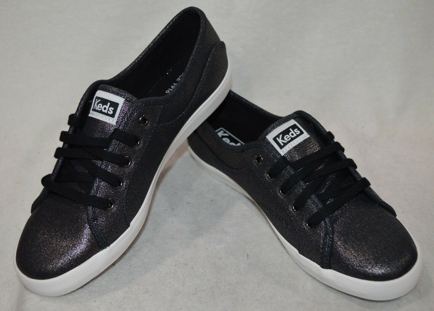 Keds Womens Coursa Metallic Black Sneaker- Size 6.5/7/7.5/9.5 NWB WF57864