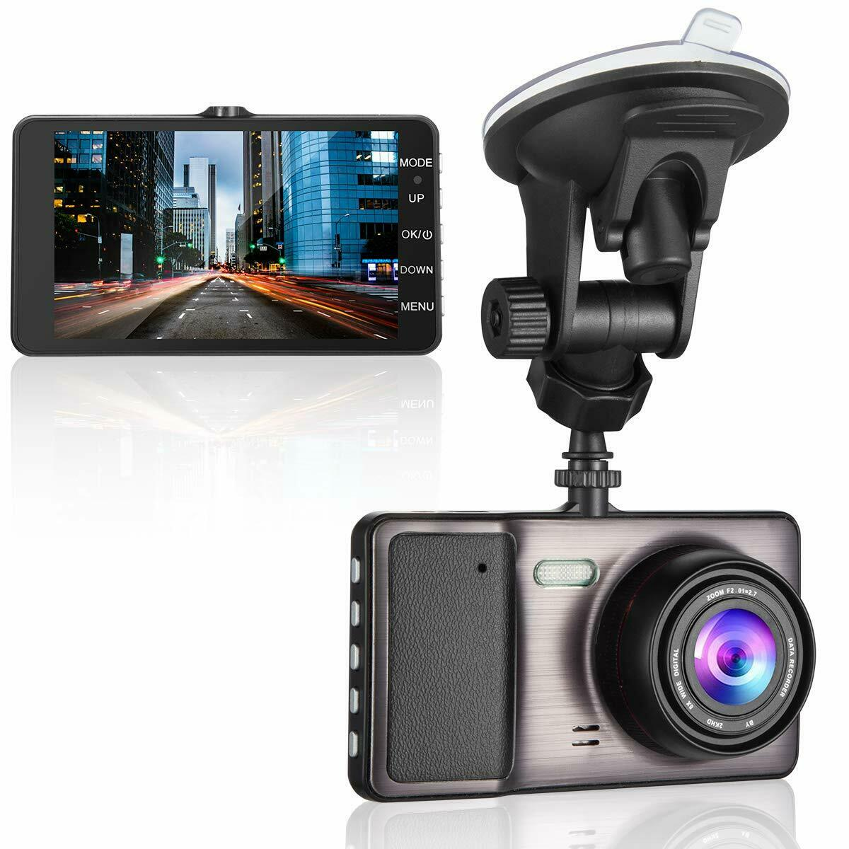 "s-l1600 Dash Cam, 1080P Car DVR Dashboard Camera Full HD 4"" IPS Screen 170 Wide Angle"