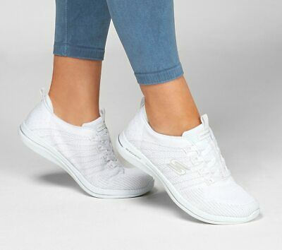 Siempre eterno Comenzar  Skechers Womens CITY PRO - GLOW ON 104015 White Trainers Shoes | eBay