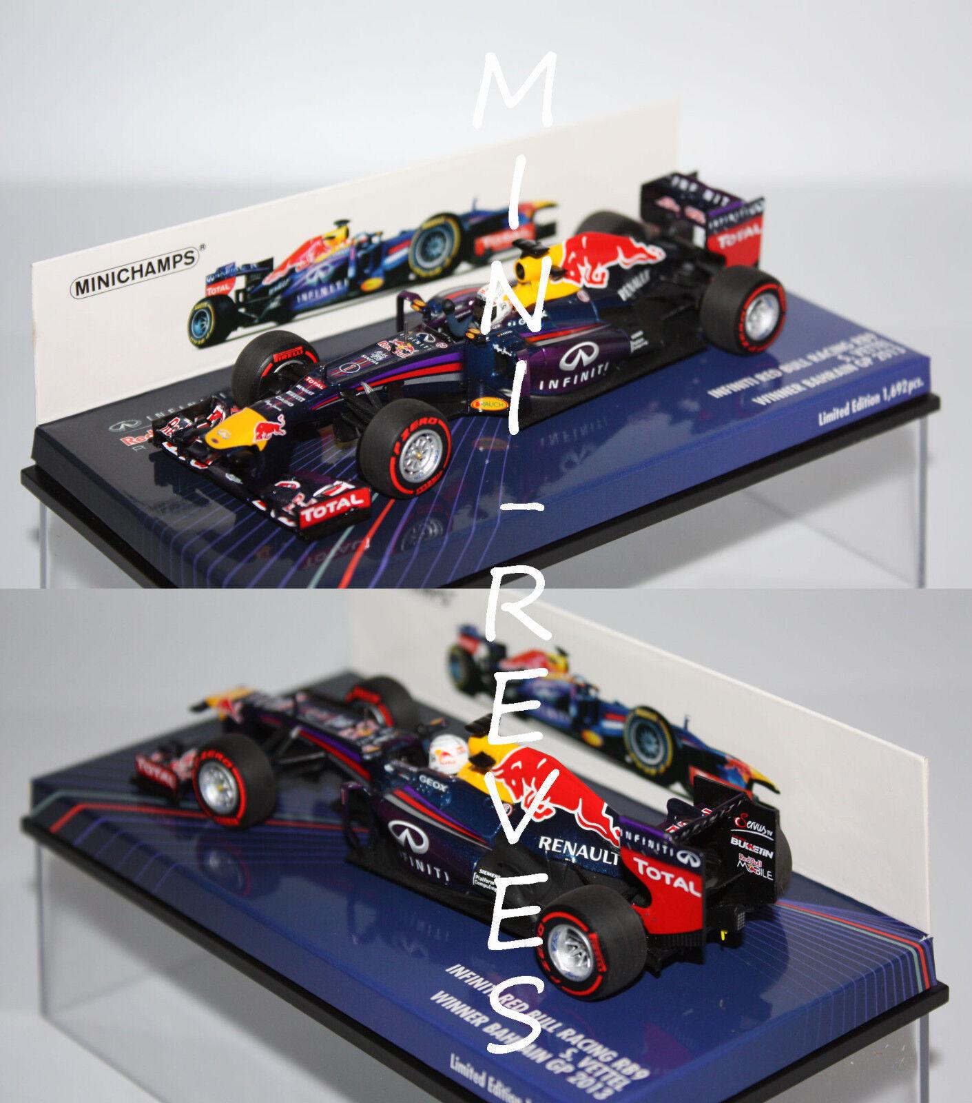 Minichamps F1 rouge Bull RB9 S. S. S. Vettel WC 2013 1 43 410130201 dc6a1a