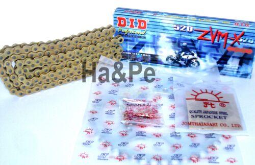 Honda CB 250 F Hornet DID Kettensatz chain kit 520 ZVM-X G/&G gold 1996-2001