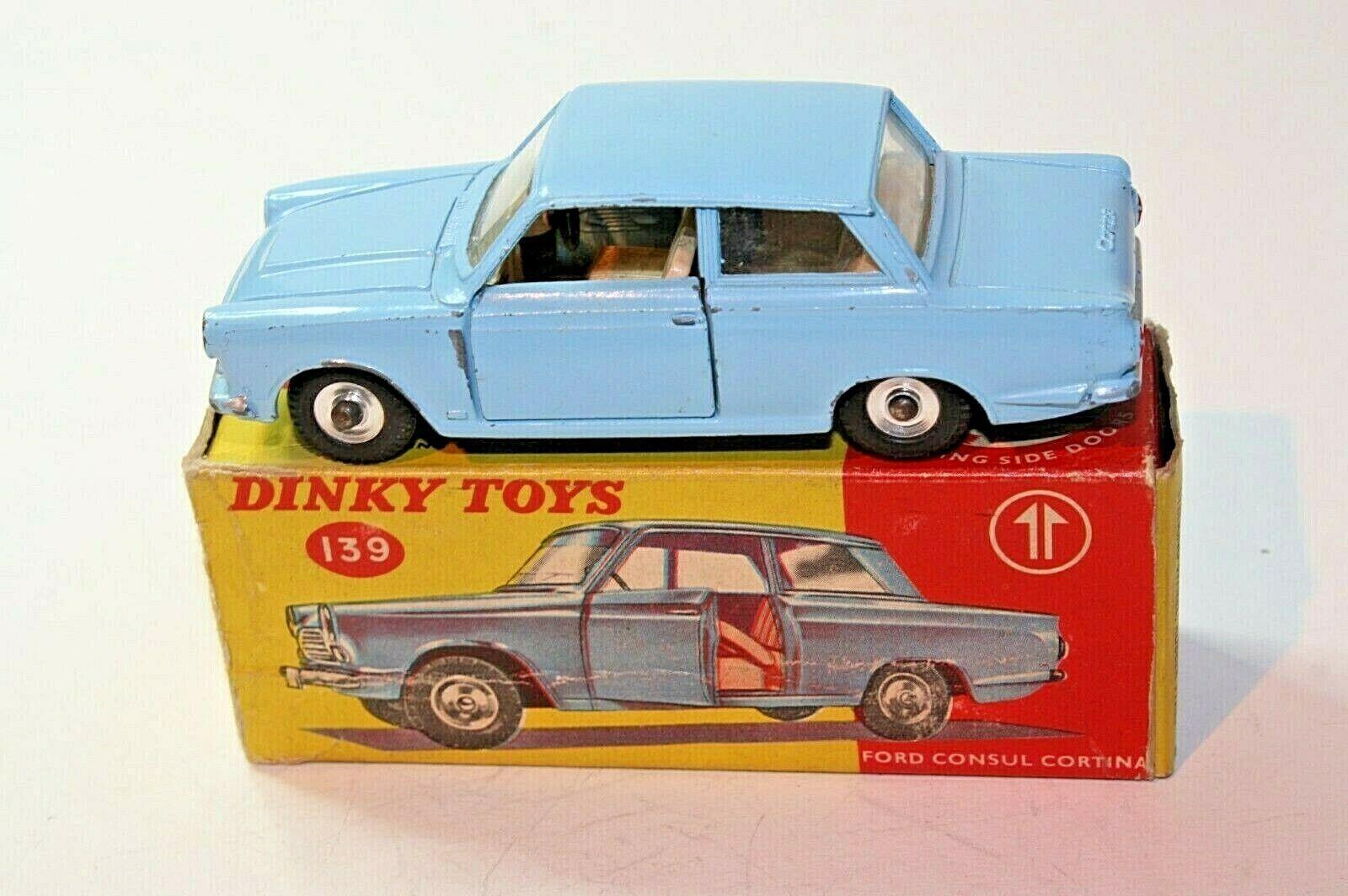 Dinky 139 Ford Consul Cortina Mk1, Good Condition in  Original Box