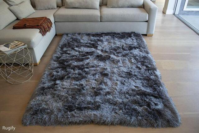 Grey Furry Rug