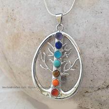 Bijou de protection Reiki collier pierres naturelles chakras - arbre de vie