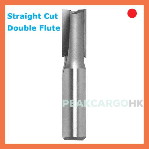 "1//4/"" Dia x 1//4/"" Shank 2-Flute Straight Slot Router Cutter Bit Carbide Tipped"