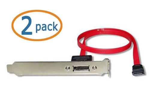 "MC18PCIx1 SATA to eSATA Port w// PCI Bracket /& 18/"" Internal SATA Cable 2-pack"