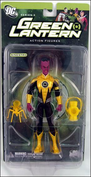 Figure Action 6in SINESTRO YELLOW Lantern Green DC 3 Toys