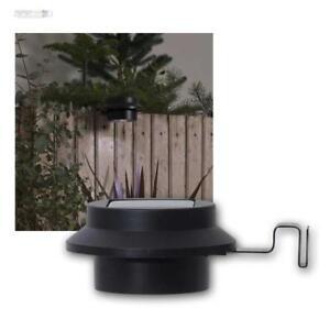 Détails sur Solaire LED Zaunleuchte avec Support,Lampe de Jardin,Blanc  Chaud Applique Murale