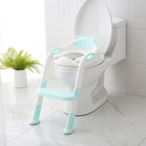 Kids Toilet Seat Ladder Baby Child Potty Training Step Trainer Non Slip Safety