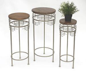 Tabouret-a-fleurs-metal-21288-jardinieres-Rond-63-73cm-COLONNE-DE-Table