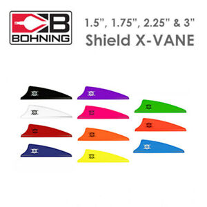 """Black Bohning 2/"""" Air Vanes 12 Pack"""