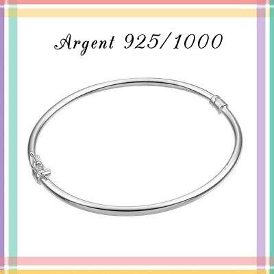 Bracelet Jonc en Argent 925//1000 6,5cm