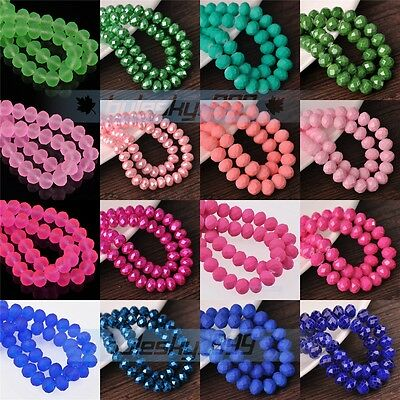 Wholesale 4mm 6mm 8mm 10mm Faceted Rondelle Crystal Glass Spacer Loose Beads