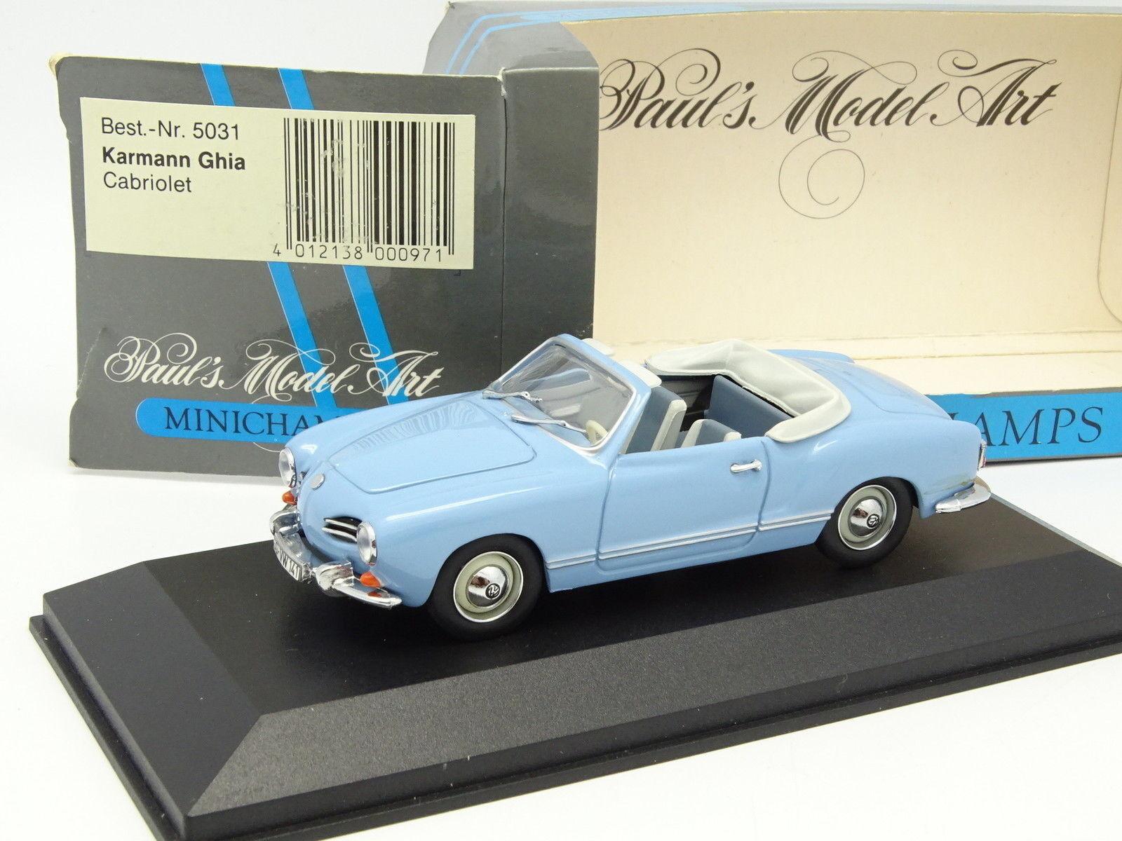 Minichamps 1 43 - VW Karmann Ghia Cabriolet blue Cielo