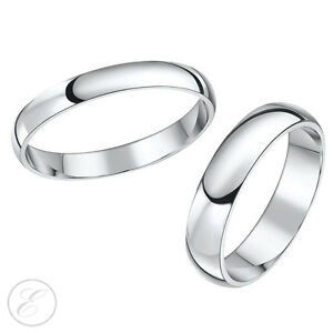 Image Is Loading Platinum Wedding Bands His Amp Hers X