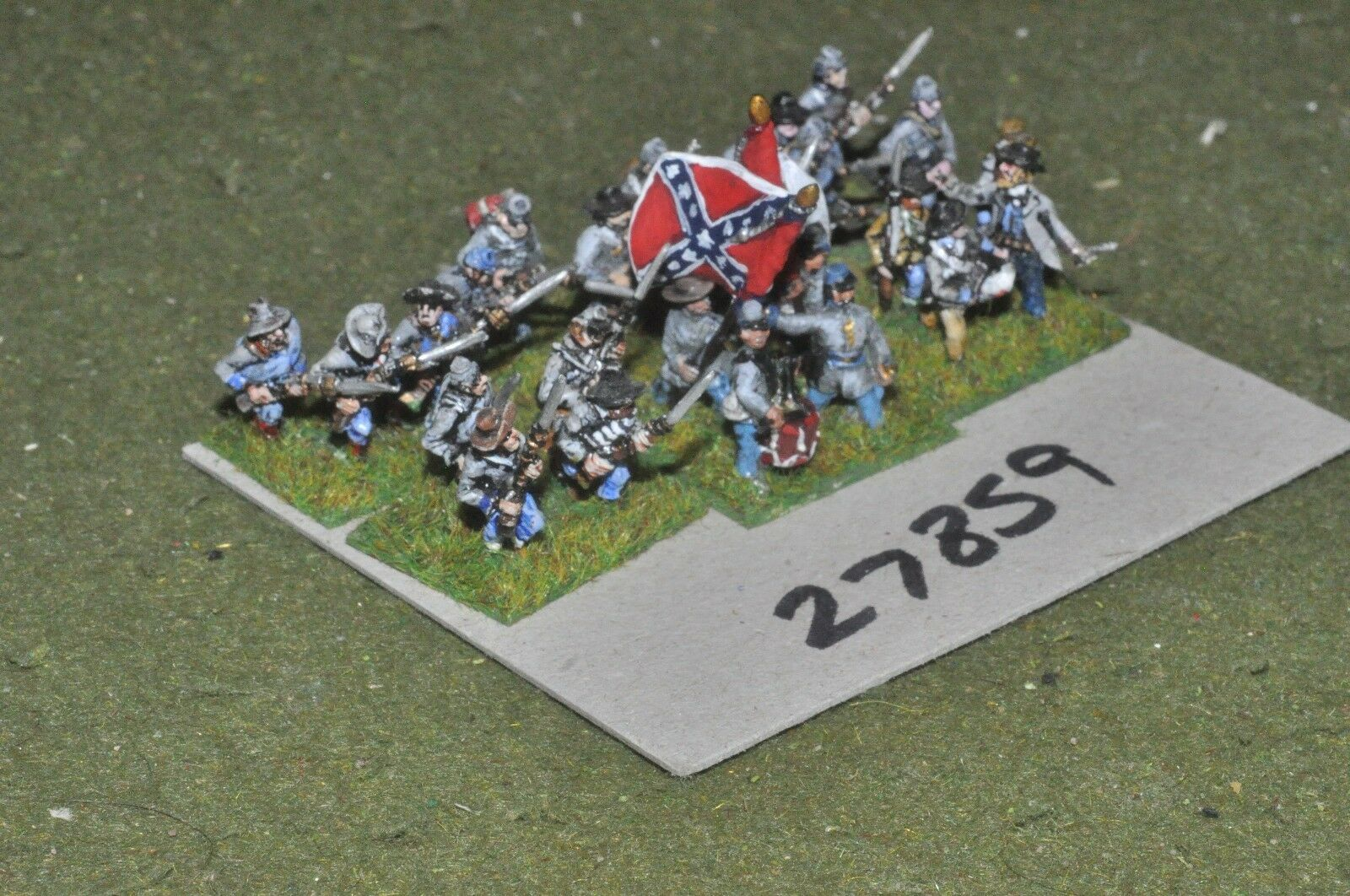 15mm ACW   confederate - regiment 24 figures - inf (27859)