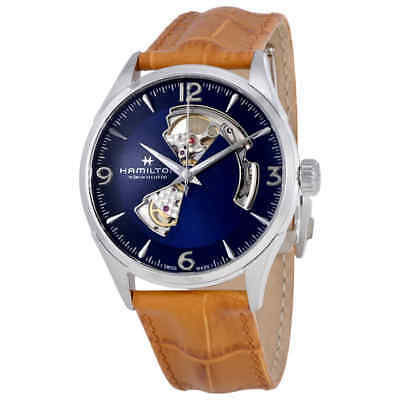 Hamilton Jazzmaster Open Heart Automatic Men's Leather Watch H32705541