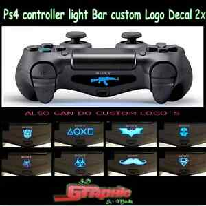 Ps4 controller light bar decal custom personalised logo 2x ebay image is loading ps4 controller light bar decal custom personalised logo aloadofball Image collections