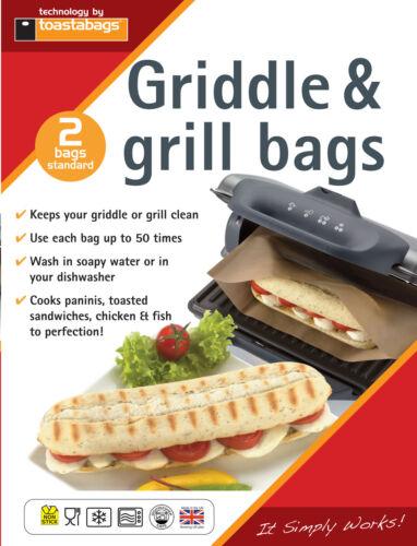 2 x PANINI GRILL sacs-reuseable jusqu/' à 50 fois chaque-toastabags