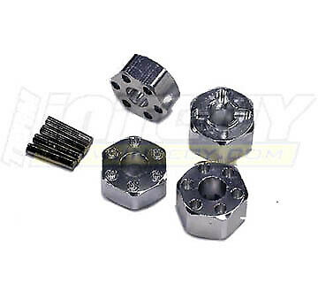for Traxxas 1//10 Electric Rustler /& Slash 2WD 4 Integy T8065SILVER Wheel Hub