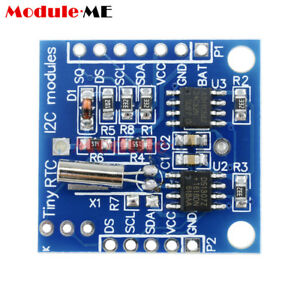 10PCS-Arduino-I2C-RTC-DS1307-AT24C32-Real-Time-Clock-Module-For-AVR-ARM-PIC-SMD