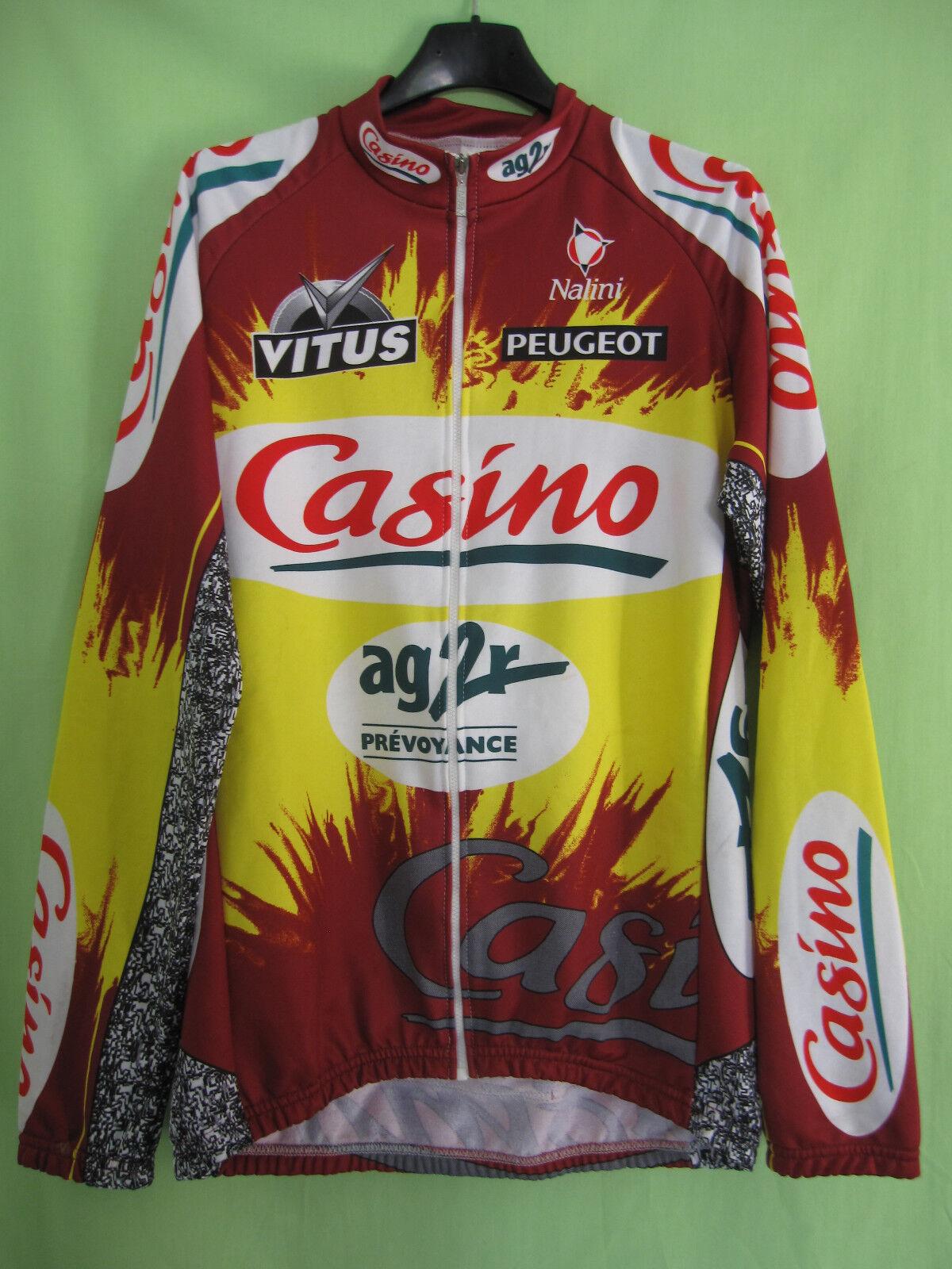 Maillot cycliste Casino Ag2r Tour 1999 Vitus vintage Manche Longue - 4   L
