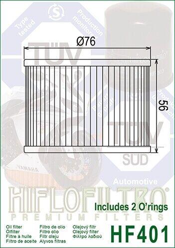 Filtro Olio HIFLO HF401 per Kawasaki EX250 JCF Ninja 250R USA 2008-2012