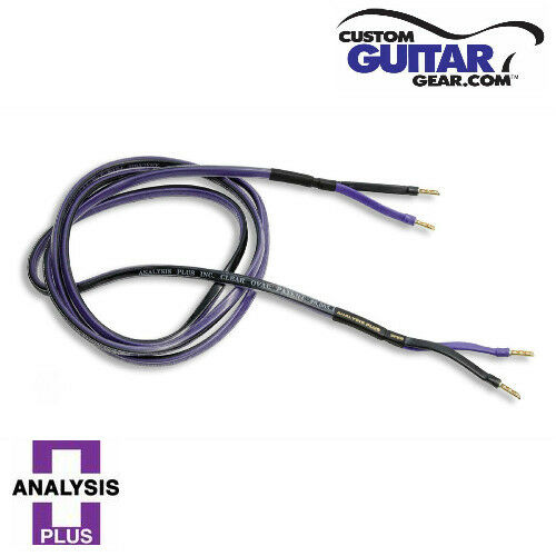 Analysis Plus SINGLE Clear Oval Speaker Cable,14 Gauge 6ft Length SINGLE CABLE