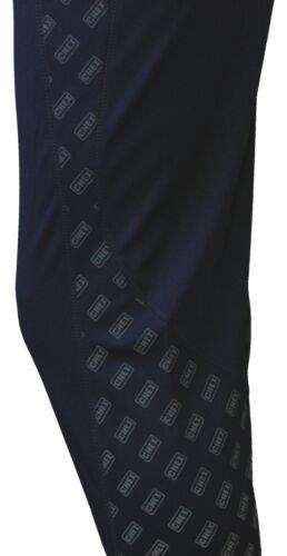 Chex Athènes homme femme randonnée marche étrier tie up legging bleu réfléchissant