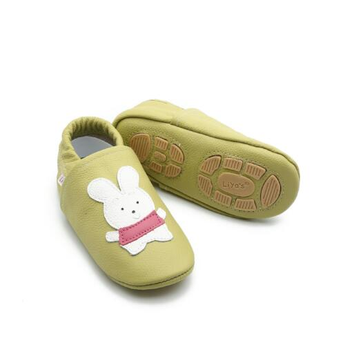 Liya/'s Baby zapatos zapatillas de casa Exclusiv turnschläppchen #615 conejo verde beige