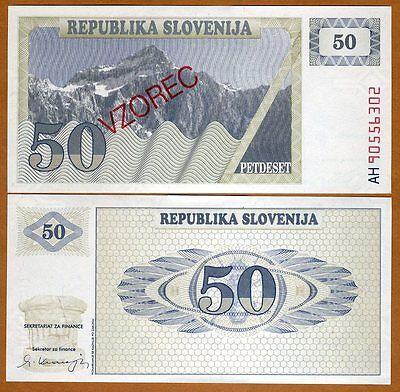 UNC Slovenia 5 PCS SET P-1 P-2 P-3 P-4 P-5 CURRENCY 1 2 5 10 50 Tolarjev 1990