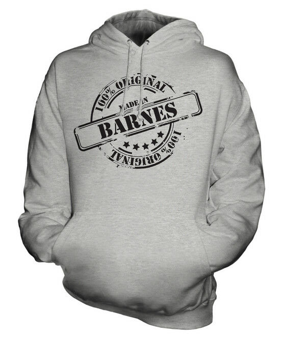 MADE IN BARNES UNISEX HOODIE  Herren Damenschuhe LADIES GIFT CHRISTMAS BIRTHDAY 50TH