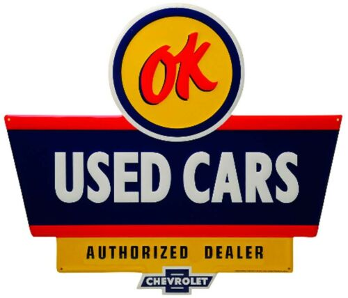 OK USED CARS EMBOSSED SIGN Limited Edition