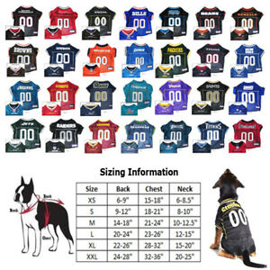 NFL Football Licensed Pet Dog Jersey CHOOSE YOUR TEAM AND SIZE - XS ... a11ff99d4