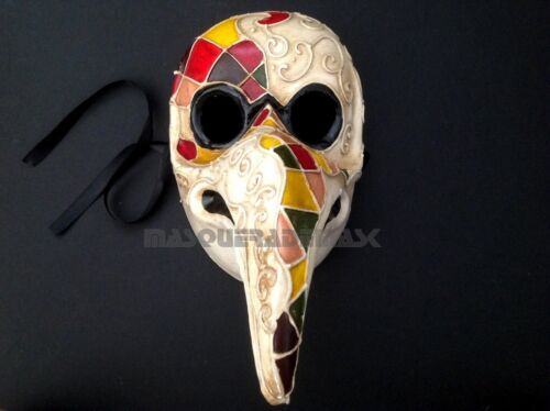 Plague Doctor Curvy Nose Bird Mask Costume Dress up Halloween Cosplay Party