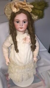 Antique-DEP-12-Jumeau-Bisque-headed-27-Doll-with-French-Chunky-Body-Circa-1899