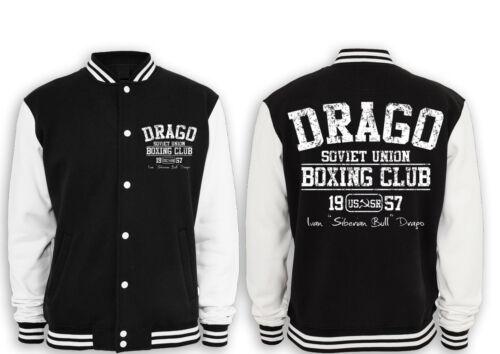 Russia ROCKY sibirian culto Ivan Rambo Drago Boxing Gym College Giacca STALLONE