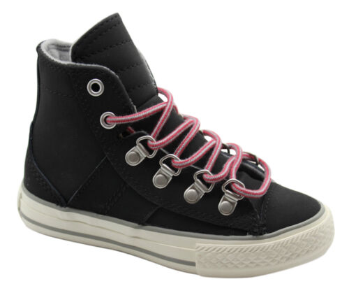 Converse Chuck Taylor CT Sneaker Boot Hi Trainers Black Leather Lace 632510C D39